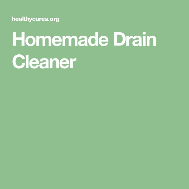 Homemade Drain Cleaner
