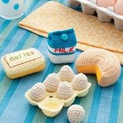 Crochet eggs and dairy patterns