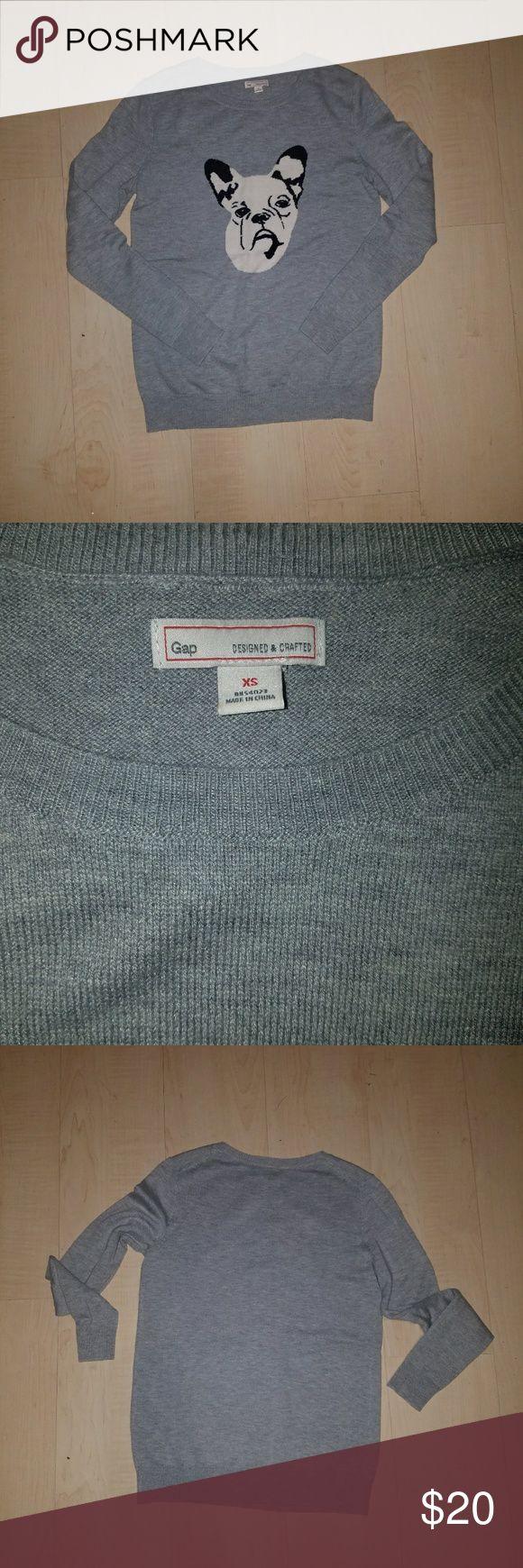 French bulldog GAP sweater Size xs GAP Tops