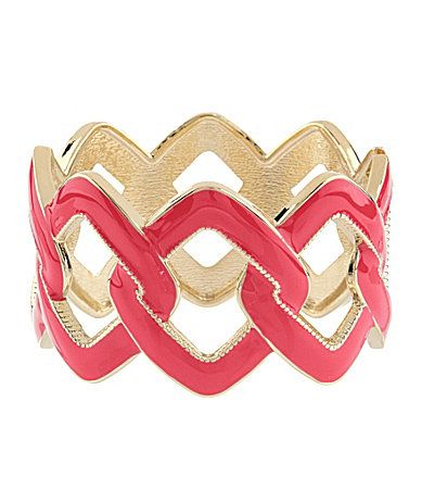 Anna and Ava Open Link Enamel Bangle #Dillards