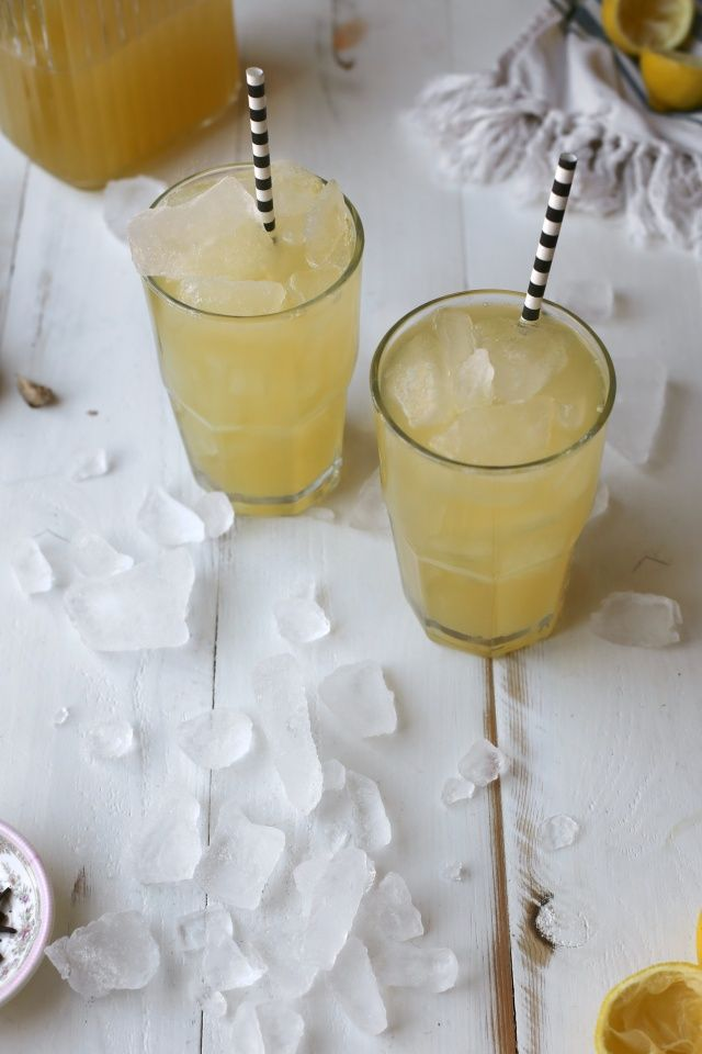 Winter Lemonade with ginger and cloves