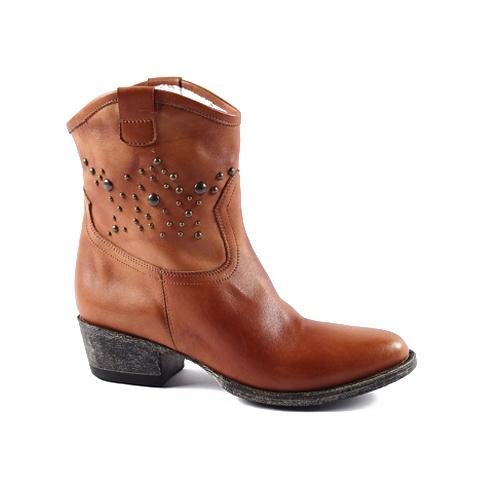 Cowboy Boot  Upper: Leather  Colors: Tan, Dark Brown, Beige