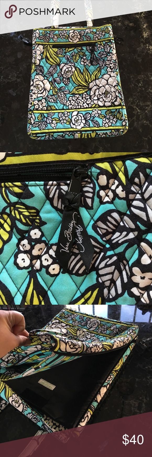 Vera Bradley laptop bag Vera Bradley laptop bag great condition! Colors r turquoise black light lime green white authentic! Make me an offer! Vera Bradley Bags Laptop Bags