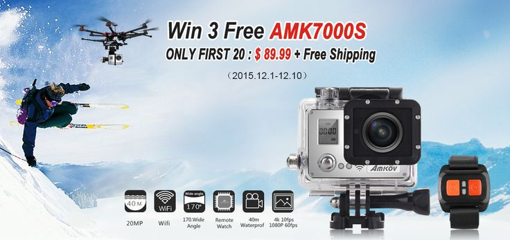 Win Your Free AMK7000S Sports Camera from Tomtop - Mobiles-Coupons