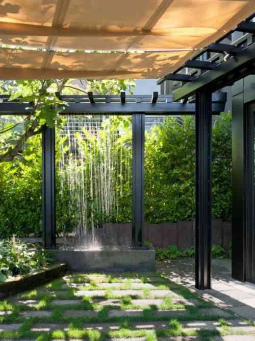 décoration aquatique d'espace extérieur