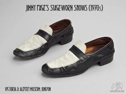 Jimmy Page's stage worn shoes