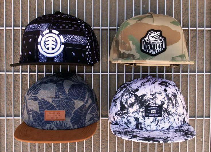Snapback Hats, DC, Element, Emerica, Etnies, Globe, Osiris, Supra and Volcom Snapback hats