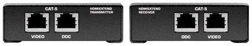 XANTECH HDMIEXTEND Point-To-Point HDMI CAT-5 Extender by Xantech. $389.60. The H…  XANTECH HDMIEXTEND Point-To-Point HDMI CAT-5 Extender by Xantech. $389.60. The HDMIEXTEND extends your HDTV display up to 200 feet away from your HDTV source using two CAT-5 cables. It is equipped with HDMI...