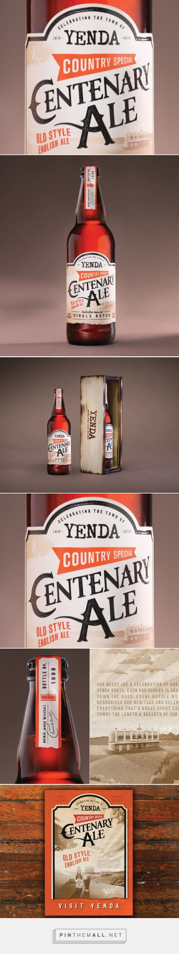 Yenda Centenary Ale - Packaging of the World - Creative Package Design Gallery - http://www.packagingoftheworld.com/2017/03/yenda-centenary-ale.html