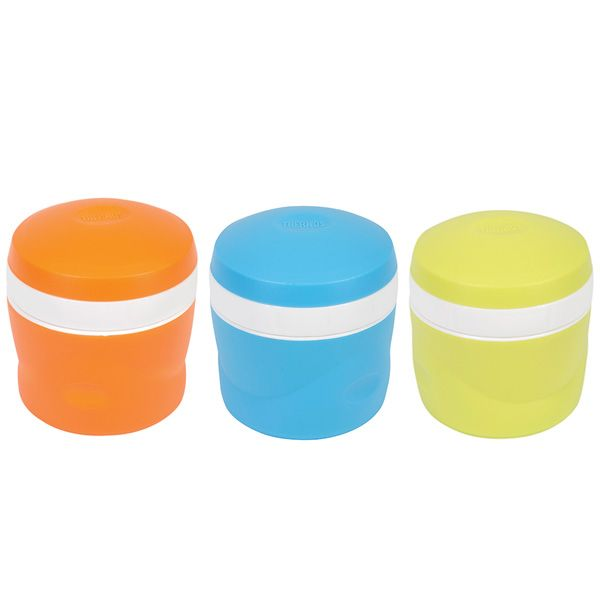 Insulated Snak Jar. These foam insulated Snak Jar containers are fantastic!  The insulation keeps the contents cold & fresh.  With a wide mouth opening it makes it easy to fill, eat from and also to clean.