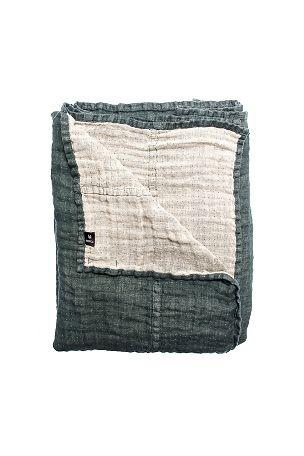 Himla Överkast Hannelin i linne 160x260 cm Blekgrön, Blekrosa, Mellangrå, Vit, Natur, Mörkgröngrå, Svart - Enkelsäng | Ellos Mobile