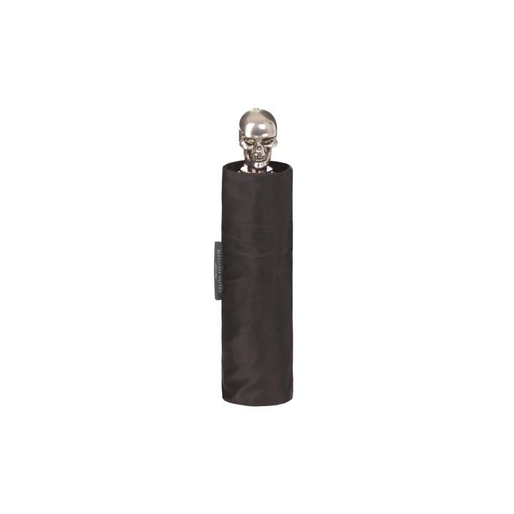 Something everyone needs transformed into something nearly everyone will want. An excellent choice for the person who has everything and/or (thinks) they want nothing: Short Skull Handle Umbrella by Alexander McQueen