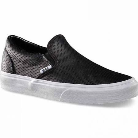 Vans Shoes Perf Leather Slip-On (Black)