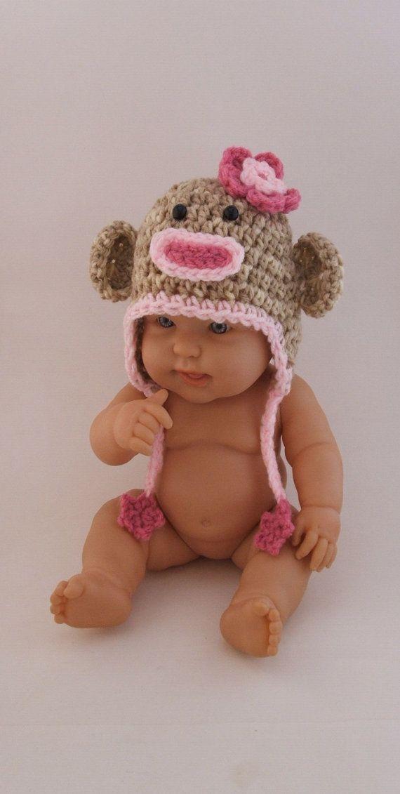 baby sock monkey hat :)