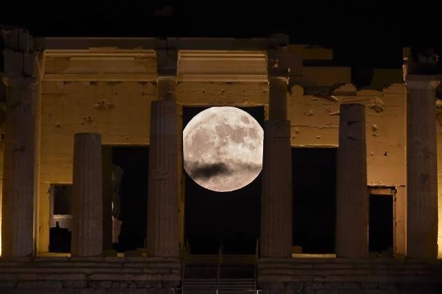 Vue sur l'Acropole à Athènes.