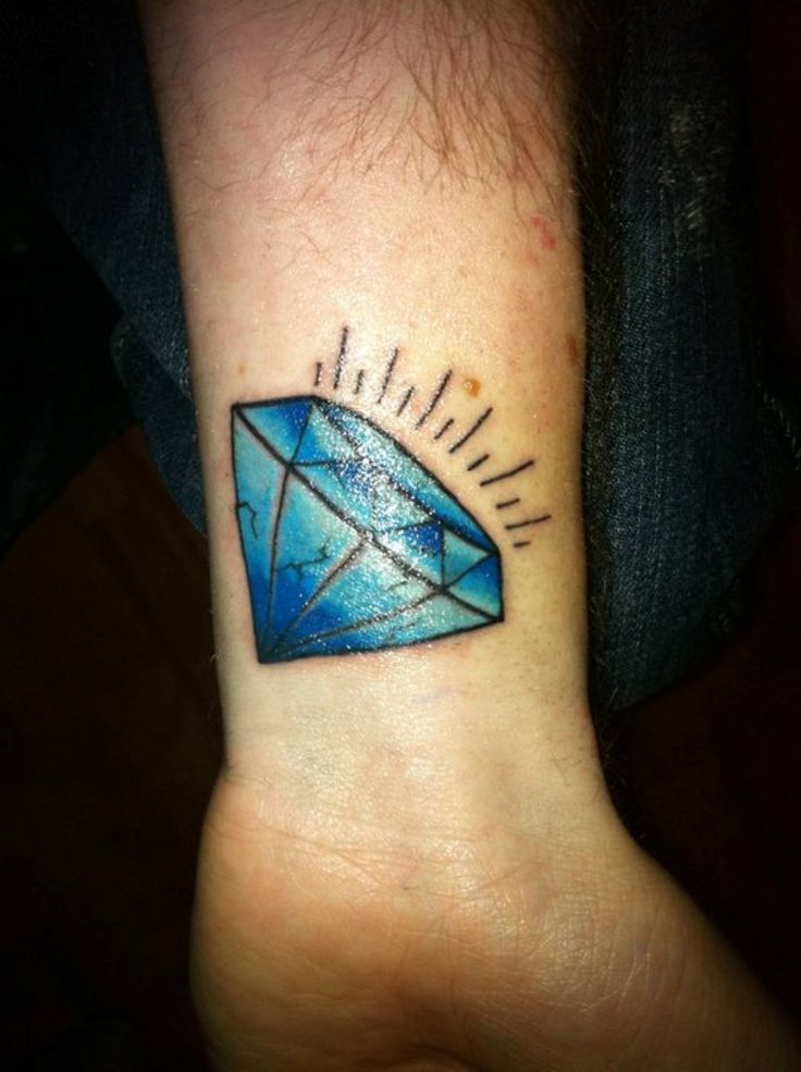 35 best Blue Diamond Tattoos images on Pinterest | Blue ...