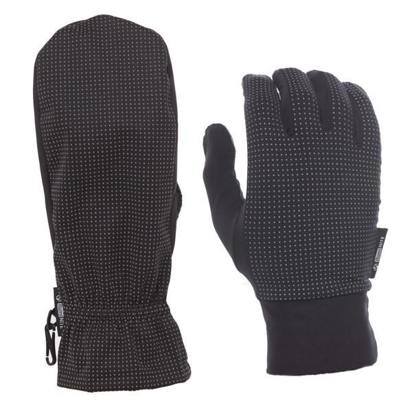 Three-in-One Mitten with Glove Liner in Black