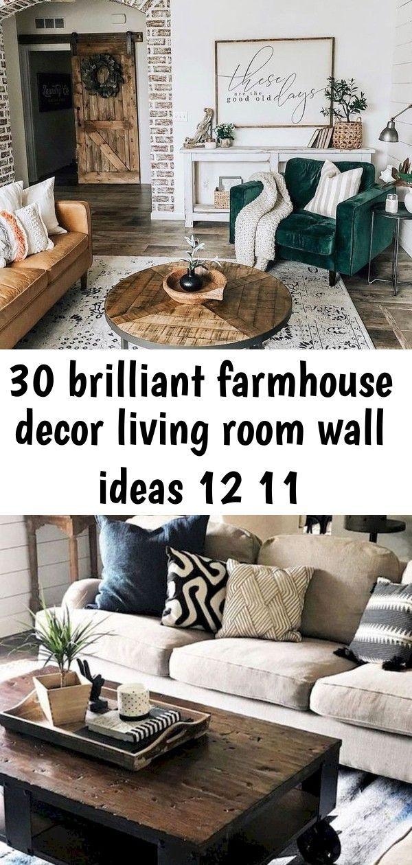 30 Brilliant Farmhouse Decor Living Room Wall Ideas 12 11 Farmhouse Decor Living Room Living Room Wall Living Room Decor