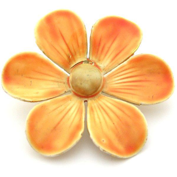 Vintage jaren 1960 'Sandor' bloem broche speld Vintage Pin ($74) ❤ liked on Polyvore featuring jewelry, brooches, vintage jewellery, pin brooch, vintage brooches, vintage jewelry and vintage broach