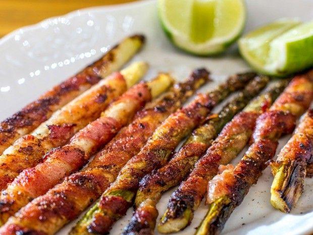 Aspargos enrolados com bacon                                                                                                                                                                                 Mais