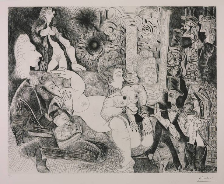 Pablo Picasso, 'Etching: 11, 28 February 1970 3, 16, 30 March 1970 (L.13)' 1970