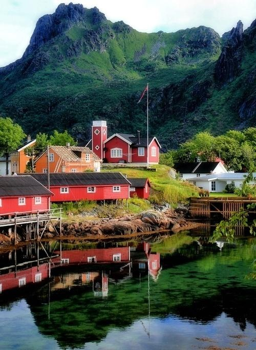 Svolvaer, Norway, Lofoten archipelago.