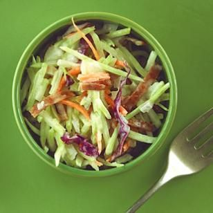 Broccoli Slaw - didn't know what to do with it...this seems to be right up my alley
