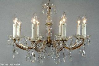 Kristallen Maria Theresia kroonluchter 26683 bij Van der Lans Antiek. Meer kristallen lampen op www.lansantiek.com