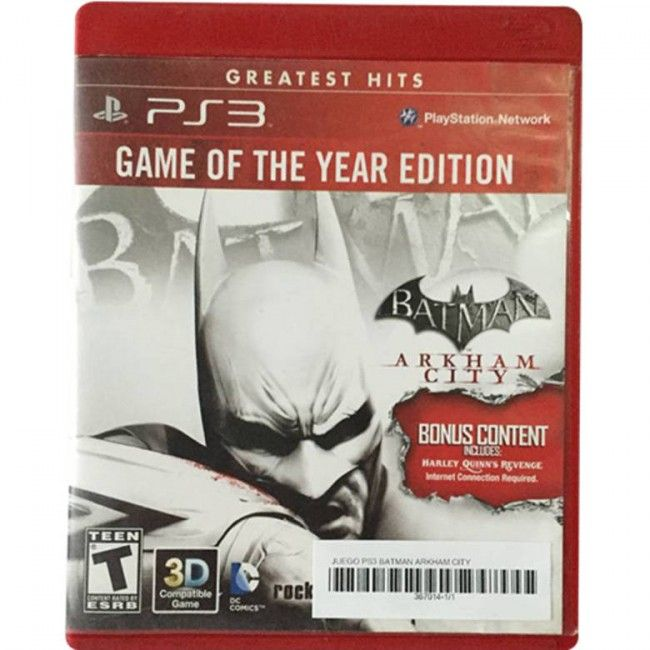 Juego PS3 Batman Arkham City - Juegos de Consola - TV, Consolas y Juegos - Tecnología - Sensacional