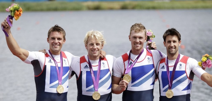 The first of 6 Gold's won on Super Saturday came from rowers Peter Reed, Andrew Triggs Hodge, Alex Gregory and Tom James in the men's coxless four.