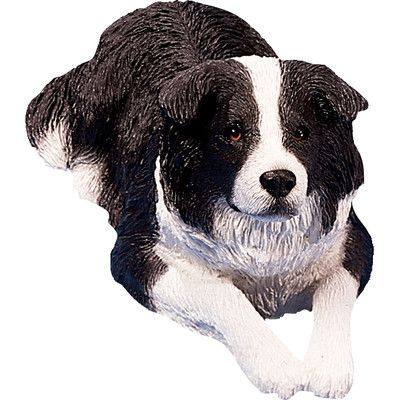 Sandicast Original Size Border Collie Sculpture