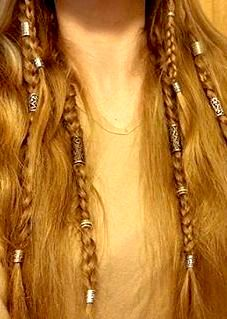 Viking braids. I edited the colors so the image would be warmer and more golden