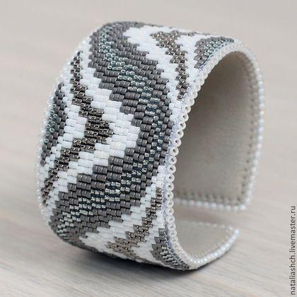 Браслет (0366) - браслет из бисера,плетеный браслет,бисерный браслет,браслет на основе