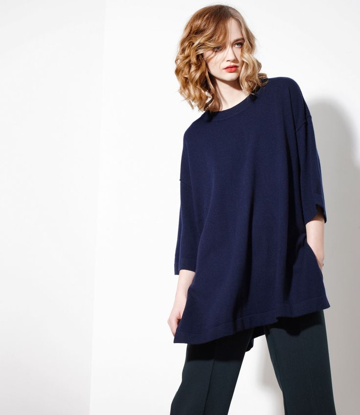 Swell Sweater in Navy - Cashmere/Merinowww.nineteen46.co.nz