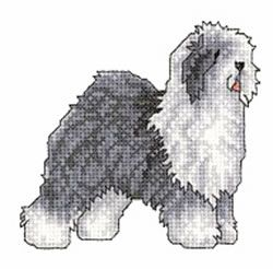 Dogs Embroidery Design: Old English Sheepdog from Vermillion Stitchery