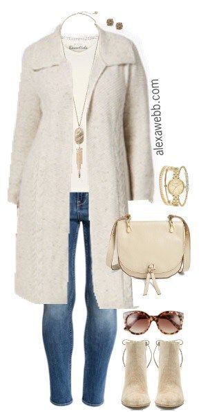 Plus Size Duster Cardigan Outfit - Plus Size Fashion for Women - alexawebb.com #alexawebb