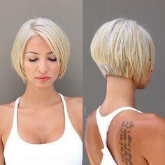 Corte de pelo corto con el volumen y textura Vista posterior - textura corto Bob Corte de pelo para el 2016