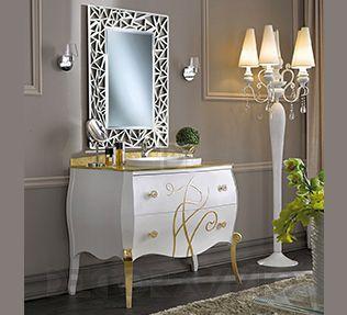 #bathroom #furniture #interior #design #interiordesign #designideas тумба под умывальник Modenese Gastone Contemporary, 96065