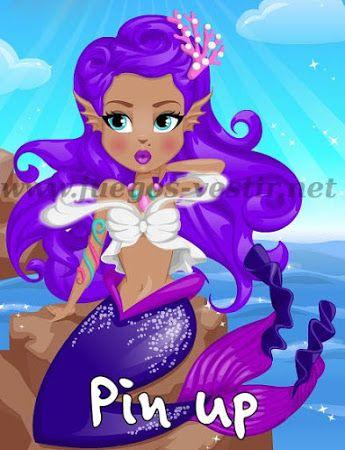Por primera vez podrás #vestir  a una #sirena  #pinup  http://www.juegos-vestir.net/jugar/sirena-pin-up