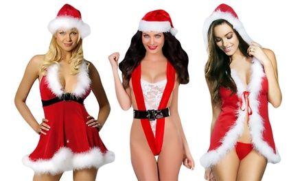 1 ou 2 lingeries sexy Mère Noël + bonnet