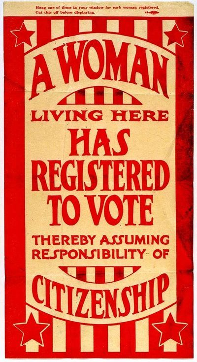 Inspiring: women's suffrage flyer from 1920 Found at Missouri History Museum.