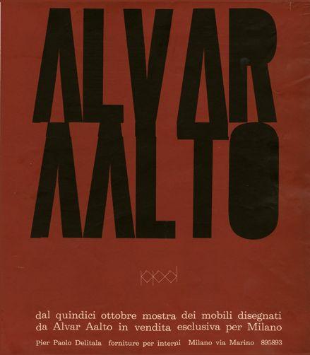 Ilio Negri, artwork for advertisingPier Paolo Delitala furniture shop, 1961. Milan.