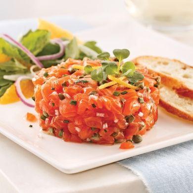 Tartare de saumon classique - Recettes - Cuisine et nutrition - Pratico Pratique