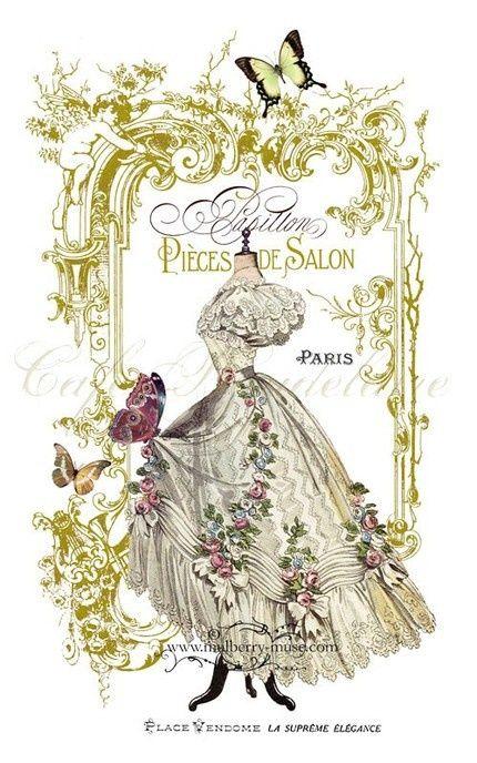 Papillon, Pieces de Salon, Illustration