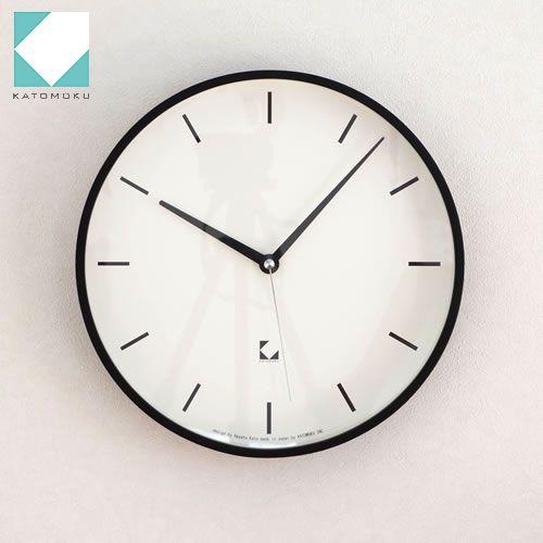 KATOMOKU km-15シリーズ アラーム 電波時計 壁掛け ステップ式掛時計 ブラック 日本製 / FavoriteStyle