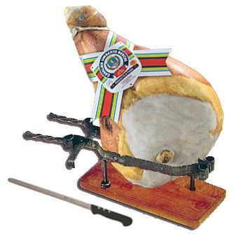 Prosciutto di Parma dop Whole with bone + ham stand + special knife for ham Only for Europe http://bit.ly/1pNpNvU