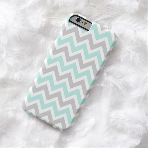 Love this iPhone 6 Case! Mint and Gray Colorful Chevron Stripes iPhone 6 Case