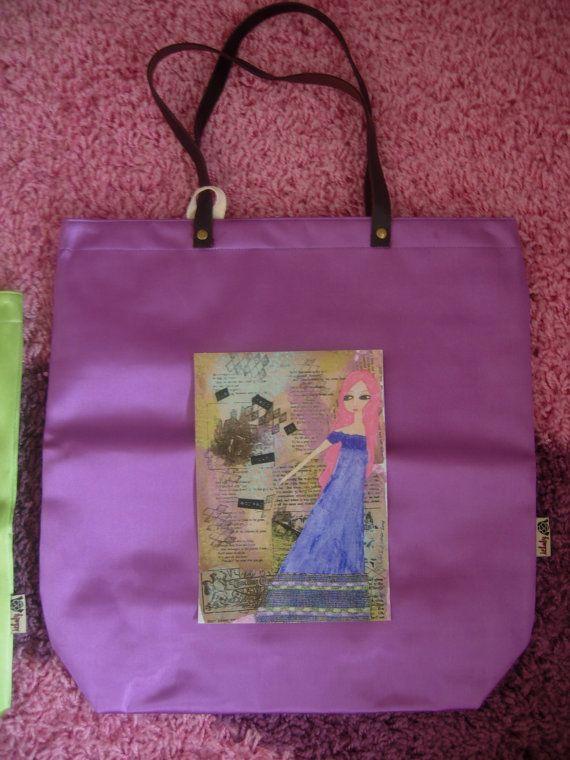 Purple Summer colorful waterproof art bag with an art by eltsamp, $78.00