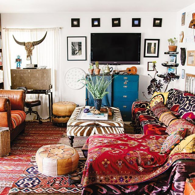 Colorful Boho Room: 17 Best Images About Bohemian Decor On Pinterest