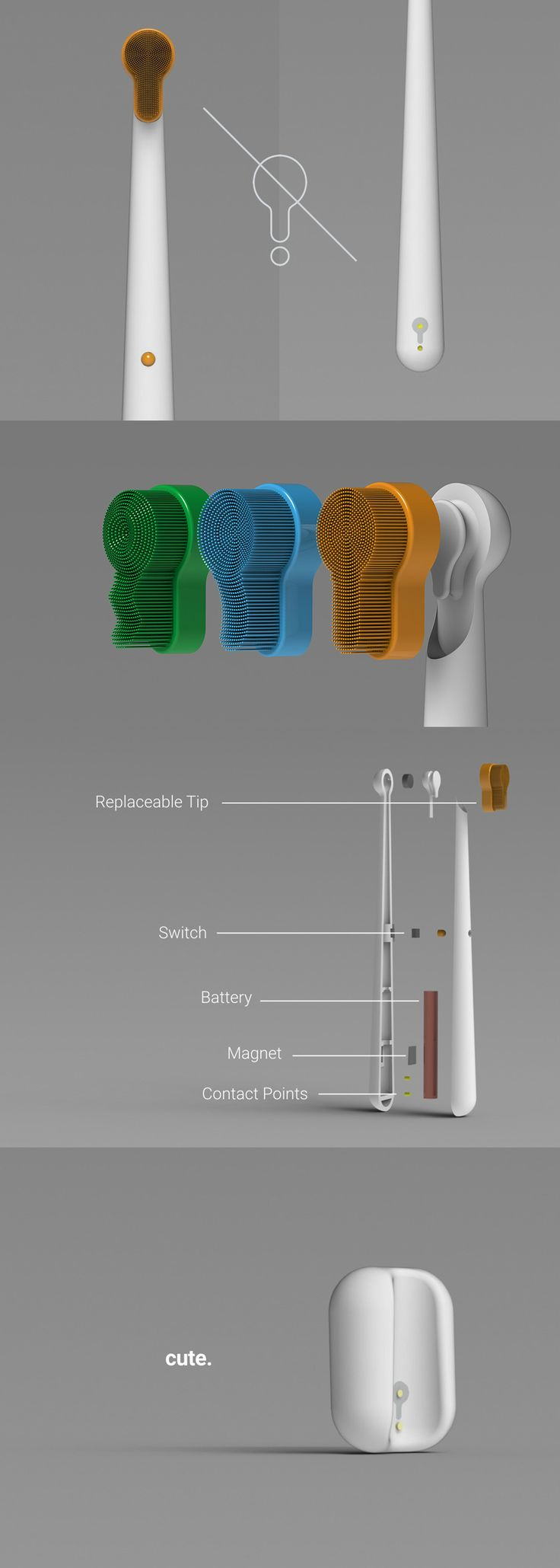 The Droplet project aims to redesigned the electric toothbrush to be just as easy to use as a non-electric one AND do as little harm as possible to the environment!